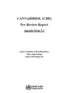 Cannabidiol CBD World Health