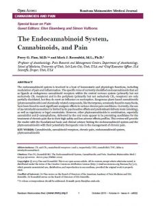 Cannabinoids and Pain
